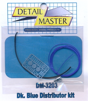 Dark Blue Wired Distributor Kit for 1/24 & 1/25