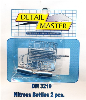 Detail Master Nitrous Bottles (2pcs) for 1/24 & 1/25