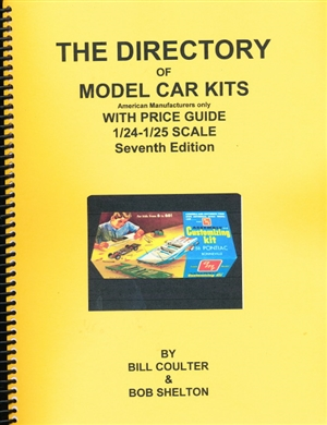 "The Directory / Price Guide of 1/25 and 1/24 kits by US manufacturers by Bill Coulter & Bob Shelton Seventh Edition 2018<br><span style=""color: rgb(255, 0, 0);"">Back in Stock</span>"