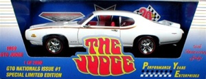 1969 PONTIAC GTO JUDGE RAM AIR III CAMEO WHITE-FOR PONTIAC NATIONALS!(1/18) Rare Diecast  (fs)