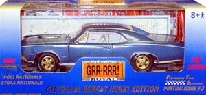 1966 PONTIAC GTO - ROYAL BOBCAT HURST EDITION - BARRIER BLUE - PONTIAC NATIONALS OFFICIAL CAR!(1/18) Rare Diecast  (fs)
