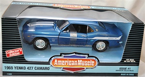 1969 CHEVY CAMARO YENKO - SUPERCARS ISSUE #1 - LEMANS BLUE(1/18) Rare Diecast  (fs)
