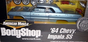 "1964 ""Silver Blue"" Chevy Impala SS  'BodyShop American Muscle' Diecast Kit (1/18) (fs)"