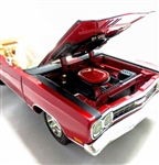 "1969 Plymouth GTX Convertible Crimson Red Diecast (1/18) ""See Notes"""