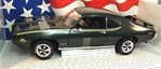 1969 PONTIAC GTO JUDGE MIDNIGHT GREEN ORIGINAL RELEASE(1/18) Rare Diecast  (fs)