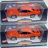1969 PONTIAC GTO CAROUSEL RED/BLACK INT WHEEL MIXUP PAIR-NOT REISSUE(1/18) Rare Diecast  (fs)