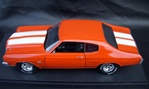 1970 CHEVELLE SS454 LS6 HUGGER ORANGE/WHITE STRIPES/BLK INT (1/18) Rare Diecast  (fs)