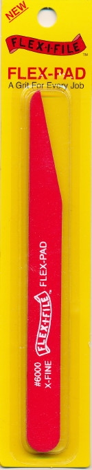 "Flexifile 600 Grit ""Xtra-Fine"" Angle Cut  Sanding Stick (Wet or Dry)"