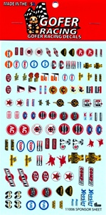 1960's Racing Contingency Sponsor Decal Sheet (1/25 or 1/24)
