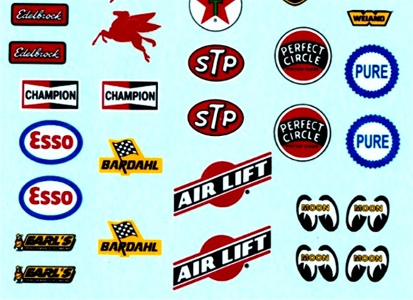 S Racing Contingency Sponsor Decal Sheet Or