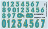 Gofer Racing Race Car Numbers Decal Sheet Two (1/25 or 1/24)