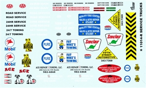 Gofer Brand Service Trucks Decal Sheet - Revised (1/25 or 1/24)