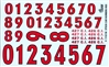 Race Car Numbers # 2 Gofer Decals (1/25 or 1/24)