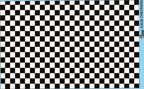 Checkerboard Decal Sheet Gofer Decals