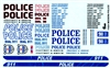 Modern Police Cars Gofer Decals (1/25 or 1/24)