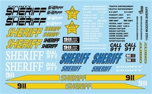 Modern Sheriff Cars Gofer Decals (1/25 or 1/24)