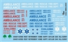 Ambulance Gofer Decals (1/25 or 1/24)