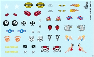 Rat Rod Decal Sheet Gofer Decals (1/25 or 1/24)
