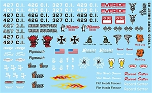 Cool Racing Stuff #3 Graphics Decal Sheet Gofer Decals (1/25 or 1/24)