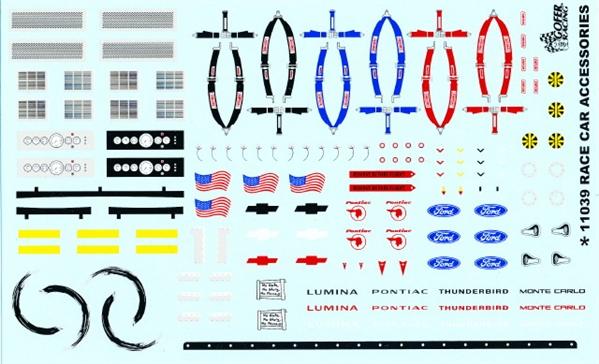 RACE CAR ACCESSORIES 1:24 1:25 GOFER RACING DECALS CAR MODEL ACCESSORY 11039
