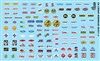 Racing Contingency Sponsor Decal Sheet # 3 (1/25 or 1/24)