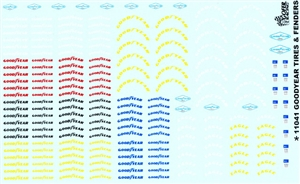 Goodyear Tires and Fenders Decal Sheet (1/25 or 1/24)
