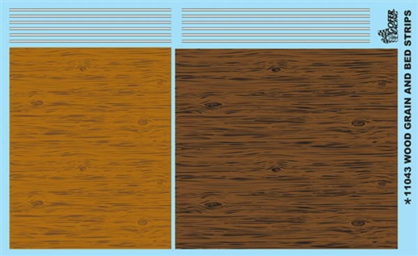 Quot Wood Grain And Bed Strips Quot Gofer Racing Decal 1 25 Or 1 24