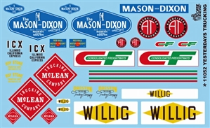 "Yesterday's Trucking ""Mason-Dixon, McLean, CF and More"" Gofer Racing Decal (1/25 or 1/24)"