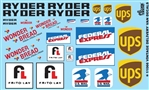 Delivery Van Decals (Ryder, Federal Express, UPS, Wonder Bread, Frito-Lay, US Mail) (1/25 or 1/24)