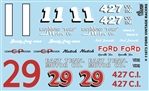 """Ford Vintage Racers"" Gofer Racing Decal (1/25 or 1/24)"