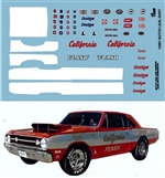 Gofer Racing Butch Leal Dart Decal Sheet (1/25)