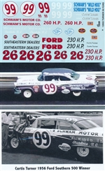 Gofer Racing Curtis Turner 1956 Ford Southern 500 Winner Decal Sheet (1/25)