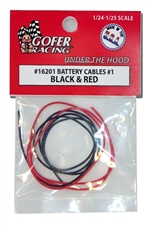 "Battery Cables (1:24-1:25) ""Red and Black"" Older Vehicles"