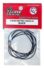 "Battery Cables (1:24-1:25) ""Black"" Modern Era Cables"