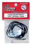 "Coolant Hose # 4 2"" Scale Diameter (1:24-1:25) ""Black"""