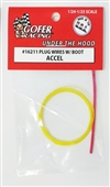 "Engine Plug Wiring with Plug Boot Material (1:24-1:25) Accel ""Yellow Wiring with Red Plug Boot Material"""