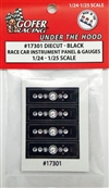 "Race Car Instrument Panel and Gauges - Diecut Plastic ""Black"" (1:24-1:25)"