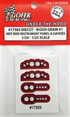"Race Car Instrument Panel and Gauges - Diecut Plastic ""Wood"" (1:24-1:25)"