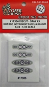 "Race Car Instrument Panel and Gauges - Diecut Plastic ""Gray # 5"" (1:24-1:25)"