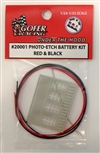 Photo Etch Battery Kit Red and Black (1:24-1:25)