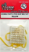 Photo Etch Seat Belts with Yellow Ribbon Belts  (1:24-1:25)