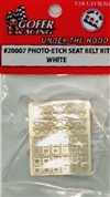 Photo Etch Seat Belts with White Ribbon Belts  (1:24-1:25)
