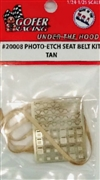 Photo Etch Seat Belts with Tan Ribbon Belts  (1:24-1:25)