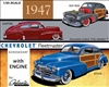 1947 Chevy Fleetmaster Aerosedan (3 'n 1) Stock, Custom, Drag (1/25) (fs)