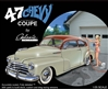 1947 Chevy Fleetmaster Coupe (3 'n 1) Stock, Custom, Drag  (1/25) (fs)