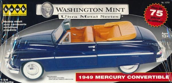 Automotive HAWK 10701 WASHINGTON MINT METAL SERIES 1949 MERCURY CONVERTIBLE 1:24 KIT NEW