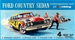 1960 Ford Country Squire Station Wagon (4 'n 1) Stock, Drag, Police and Thrill (1/24)