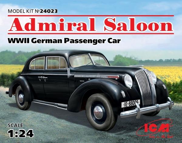 Admiral Saloon Wwii German Passenger Car 1 24