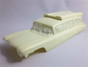 1959 Caddy Hi-Headroom Ambulance (1/25) (Resin Body, Lights, & Rear Vacuform Glass Only)