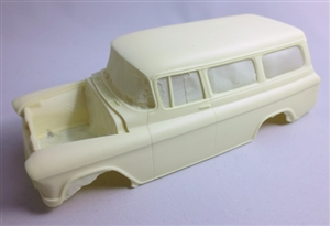 1955-57 Chevy Suburban (1/25) (Resin Body, Rear Bumper & Taillights Only)